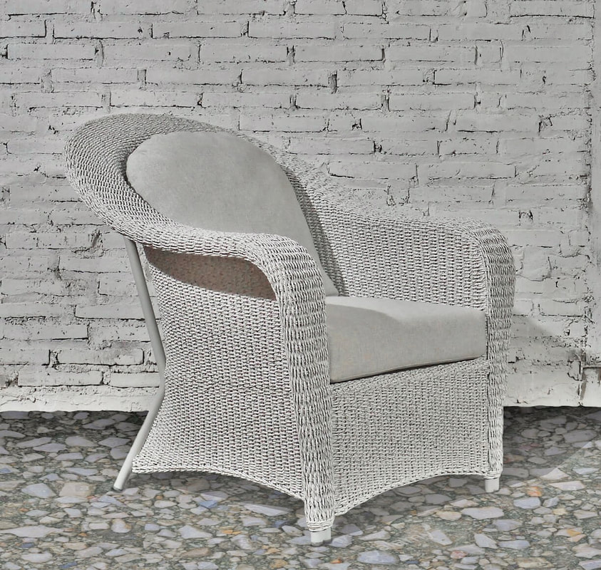 picture of Outdoor White braided armchair